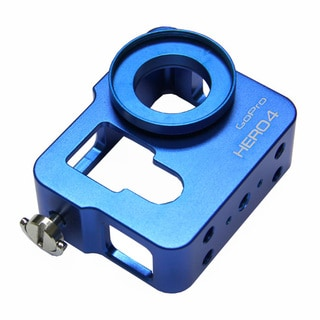 Blue CNC Aluminium Metal Skeleton Rugged Frame Protective Housing for GoPro HERO4