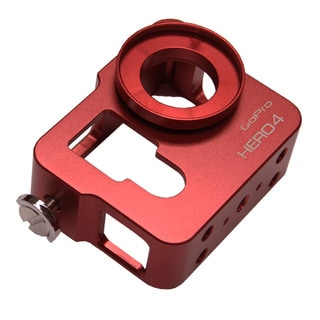 Red CNC Aluminium Metal Skeleton Rugged Frame Protective Housing for GoPro HERO4