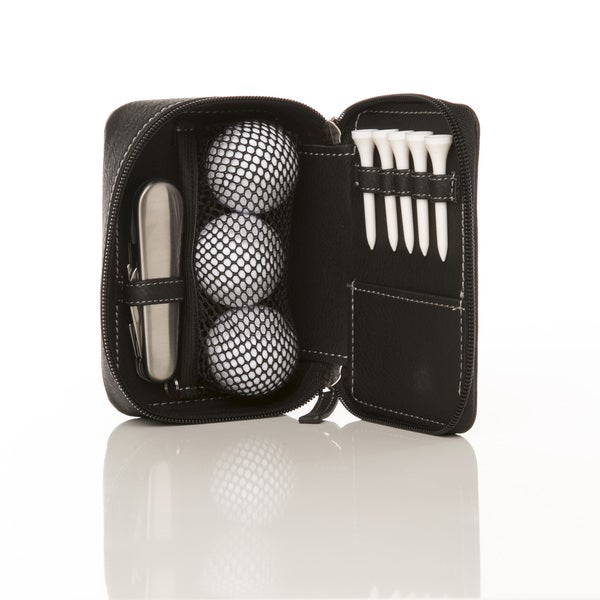Mini golf club bag in leather with 3 golf balls 5 tees for Fish food golf balls