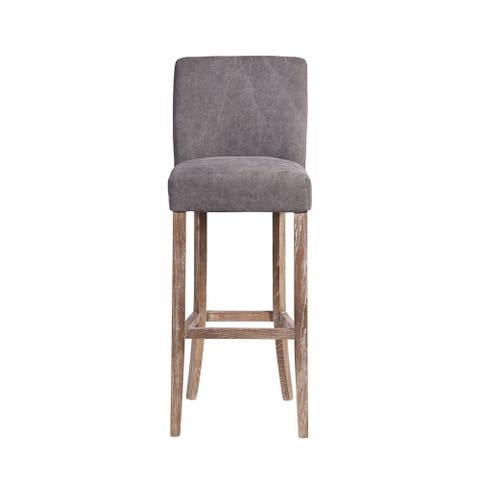 Handmade Duval Frost Grey Bar Stool (India)