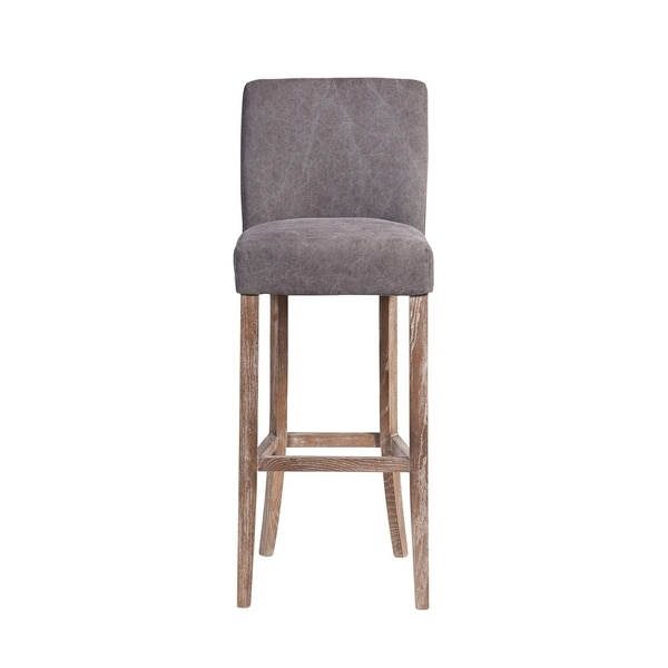 Handmade Duval Frost Grey Bar Stool (India). Opens flyout.