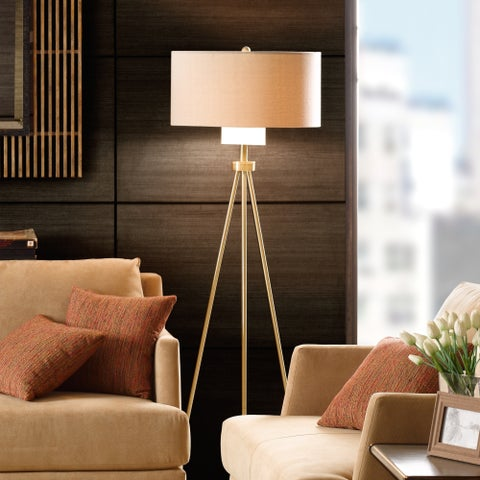 Ink+Ivy Pacific Tripod Floor Gold Lamp