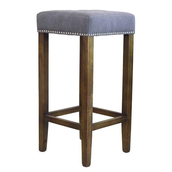 Ash Bar Stool with Silver Nailheads Free Shipping Today  : Ash Bar Stool with Silver Nailheads d6c1b908 5075 4c02 9113 e77fa72f8223600 from www.overstock.com size 600 x 600 jpeg 26kB