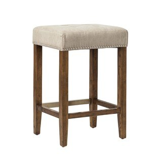 Ash Studded Counter Stool with Kickplate
