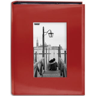 Sewn Frame Photo Album 7inX9in 200 PocketsRed