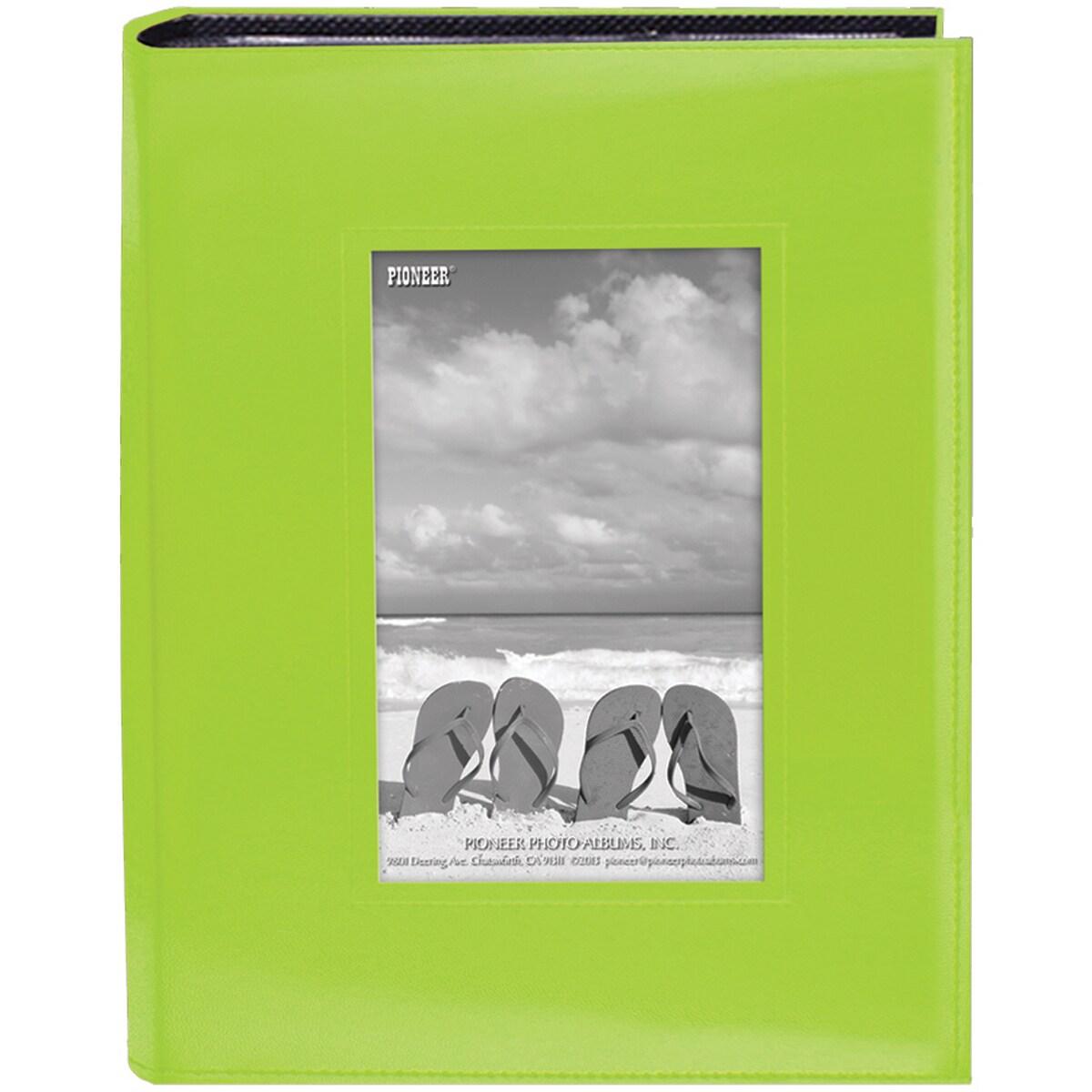 Pioneer Sewn Frame Photo Album 7inX9in 200 PocketsBright ...