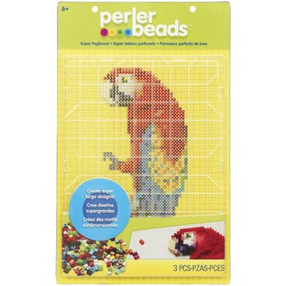 Perler Super Fun Fusion Pegboard 1/PkgRectangle Clear 10.5inX14in