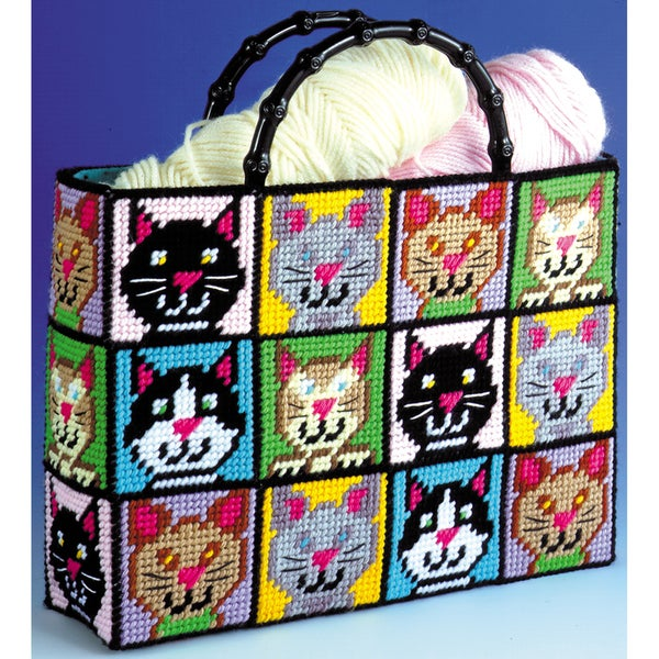 Shop Cat Tote Bag Plastic Canvas Kit12inX13inX9in 7 Count