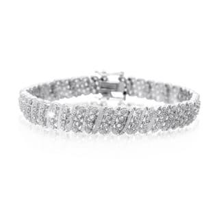 Platinum Over Brass 1 Carat TDW Four Row Diamond Bracelet, 7 Inches (J-K, I2-I3) https://ak1.ostkcdn.com/images/products/10546999/P17626860.jpg?impolicy=medium