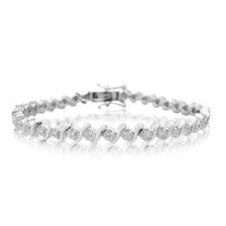Platinum Over Brass 0.40 Carat TDW Diamond S-Type Tennis Bracelet, 7 Inches (J-K, I2-I3) https://ak1.ostkcdn.com/images/products/10547000/P17626861.jpg?impolicy=medium