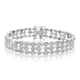 Platinum Over Brass 1.20 Carat TDW Three Row Diamond Bracelet, 7 Inches (J-K, I2-I3) https://ak1.ostkcdn.com/images/products/10547009/P17626865.jpg?impolicy=medium