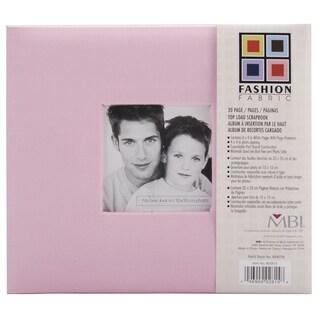 Fashion Fabric Post Bound Album 8inX8inPink