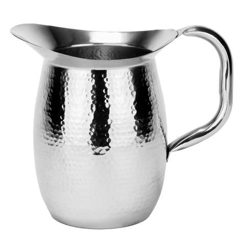 Hammered Double Walled 2-quart Stainless Steel Pitcher