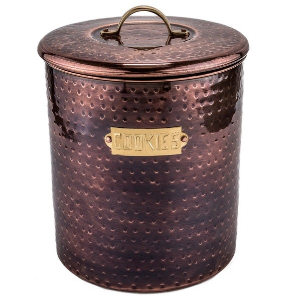 Hammered Antique Copper 4-quart Cookie Jar