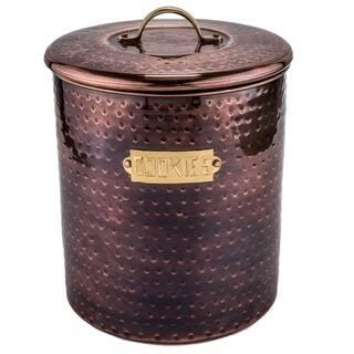 Hammered Antique Copper 4-quart Cookie Jar|https://ak1.ostkcdn.com/images/products/10547060/P17626938.jpg?impolicy=medium