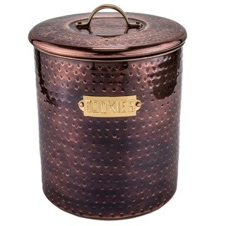 Hammered Antique Copper 4-quart Cookie Jar