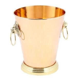 Solid Copper 1-gallon Lion Head Champagne Cooler