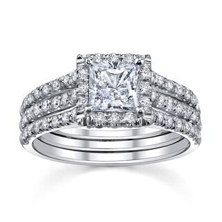 18k White Gold 1 3/4ct TDW Diamond Engagement Ring