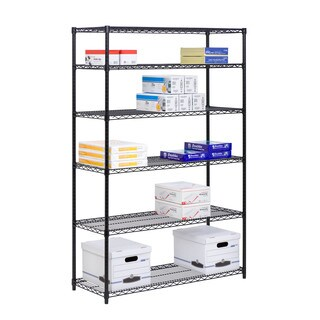 Honey Can Do 6 Tier Black Steel Shelving- 600lb