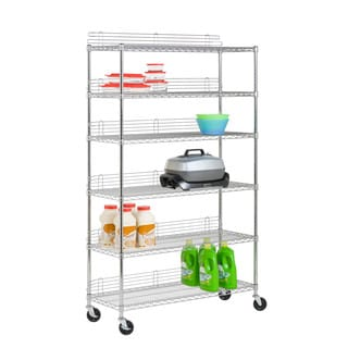 6 Tier Chrome Urban Shelving Unit