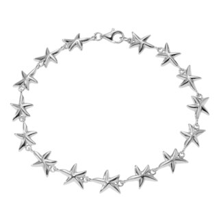 Journee Collection Sterling Silver Starfish Link Bracelet
