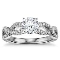 14k White Gold 1/2ct TDW Infinity Diamond Engagement Ring
