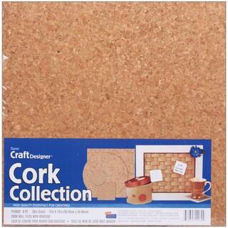 Cork Collection Tiles12inX12inX5mm 4/Pkg