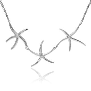 Journee Collection Sterling Silver 3 Starfish Pendant