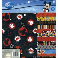 Disney Paper Pad 12inX12in 24 SheetsMickey 12 Designs/2 Each
