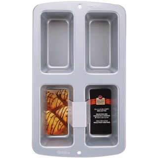 Recipe Right Mini Loaf Pan4 Cavity 3inX6inX2in