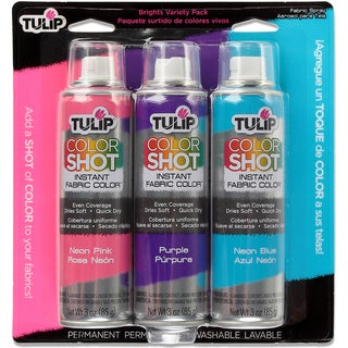 Tulip Color Shot Instant Fabric Color Spray 3/PkgBright