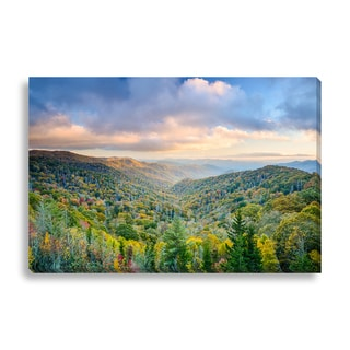 Gallery Direct 'Smoky Mountains in Autumn' Canvas Gallery Wrap