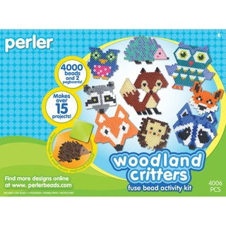 Perler Fun Fusion Fuse Bead Activity KitWoodland Critters