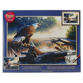 Paint Works Paint By Number Kit 20inX14inEagle Hunter