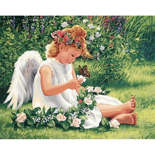 Paint Works Paint By Number Kit 20inX16inDarling Angel