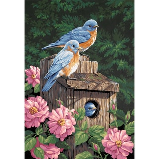 Paint Works Paint By Number Kit 14inX20inGarden Bluebirds