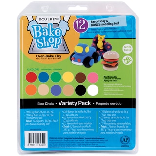 Sculpey Bake Shop Clay Variety Pack 14ozAssorted Colors