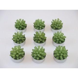 Succulent Tealight Candles (Set of 9)