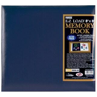 Leatherette Post Bound Album 8inX8inNavy