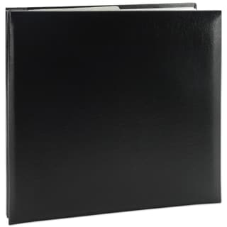 Leatherette Post Bound Album 8inX8inBlack