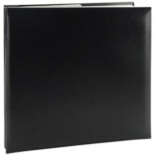 Leatherette Post Bound Album 8inX8inBlack