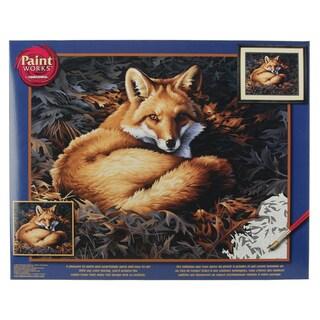 Paint Works Paint By Number Kit 20inX16inSunlit Fox