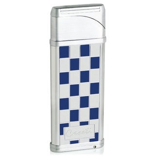 Caseti Alchemy Windproof Flame Coil Lighter - Blue Grid Lacquer