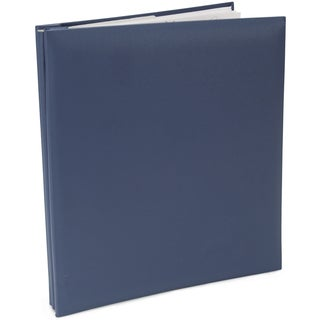 Leatherette Post Bound Album 8.5inX11inBay Blue