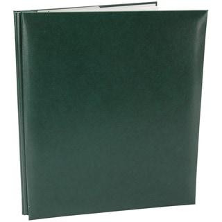 Leatherette Post Bound Album 8.5inX11inGreen