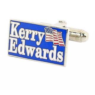 Silvertone John Kerry 2004 Election Cufflinks