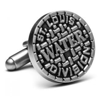 Silvertone St. Louis Manhole Cover Cufflinks