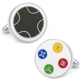 Silvertone Gamer Cufflinks