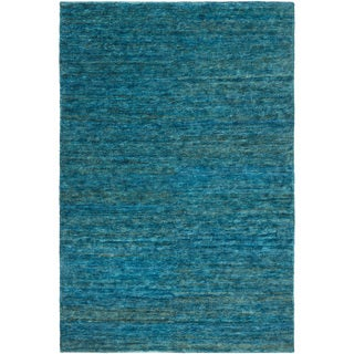 Hand-Knotted Joselyn Solid Indoor Jute Area Rug (8 x 10 - Blue)
