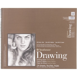 Strathmore Medium Drawing Spiral Paper Pad 14inX17in24 Sheets